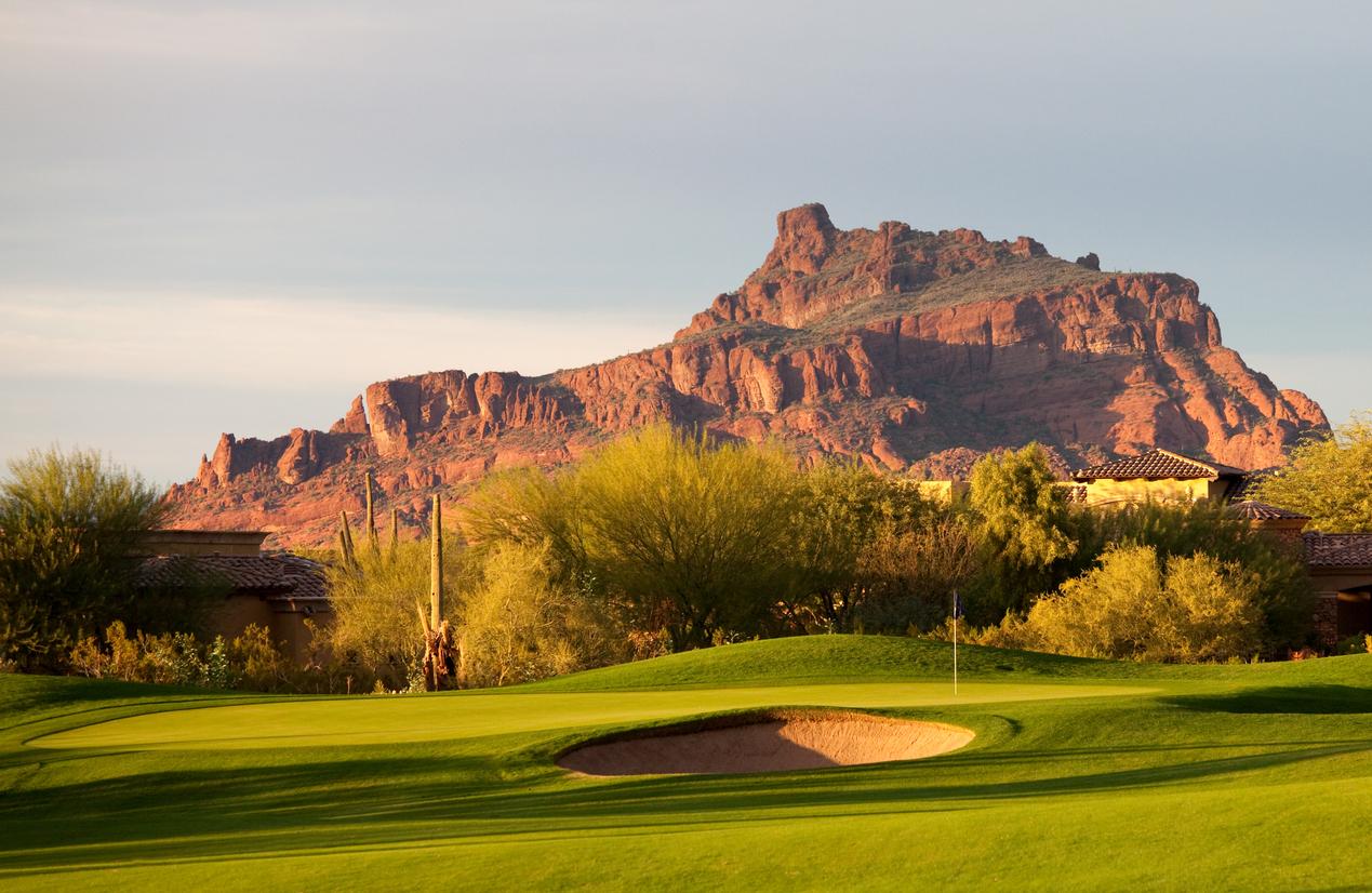Golf course oasis